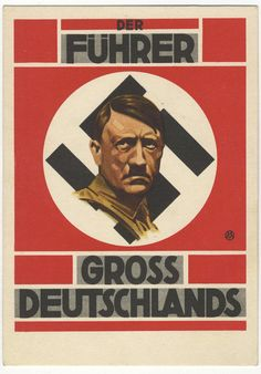 Hitler 1938 Grossdeutschlands Austria Union propaganda PC unused in excellent condition.