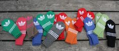Adidas, Mittens, Knit Crochet, Gloves, Felt, Wool, Knitting, Hats, How To Make