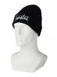 Twisted Soul Black Twisted Beanie Hat