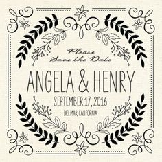 A rustic Save the Date with a unique design.