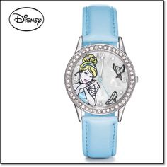 Disney Cinderella Strap Watch You won't be late for the ball with this gorgeous watch. Silvertone case embellished with rhinestones.
