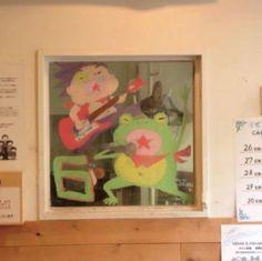 2015/2/2掲載 「ilebois」さんがおこさんの通われている保育園の窓に描かれている月替わりのイラスト作品です。6月 https://www.facebook.com/kitpas2005  #kitpas #キットパス