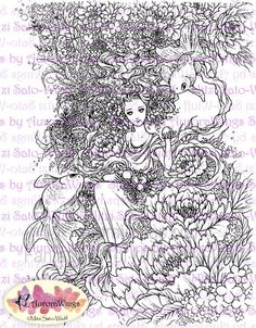 My Coloring Book Features 19 Line Drawings In The Theme Of Flowers