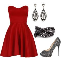 """""""Red party dress"""" by splendourandrouge on Polyvore"""