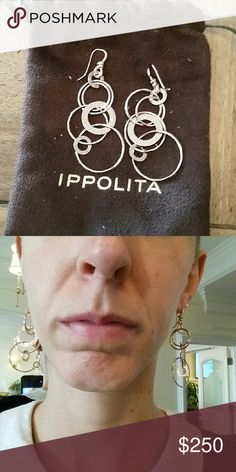 Glamazon Ippolita Rose Gold Jet Set Earrings Product description from Ippolita.  Brand new condition, ships in dust cloth. Ippolita  Jewelry Earrings