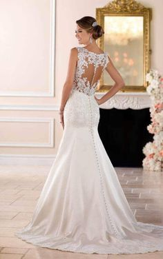 6416 Elegant Sparkling Fit and Flare Wedding Dress by Stella York