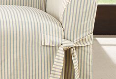 Photo of Ticking Stripe One Piece Slipcovers