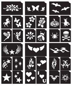 Henna Temporary Tattoo Body Art Sticker Glitter Stencil