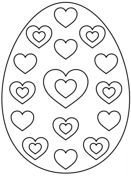 Easter Egg with Hearts Coloring page