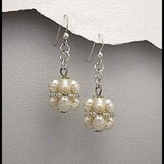 "Fresh water Pearl earrings Fresh water Pearl and seed beads SS earwire earrings. 1 1/2 "" height. Jewelry Earrings"