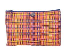 Tory Burch Jane Woven Leather Soft Over-Sized Clutch, Rainbow Multi - http://bags.bloggor.org/tory-burch-jane-woven-leather-soft-over-sized-clutch-rainbow-multi/