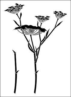 Fennel stencil from The Stencil Library VINTAGE range. Buy stencils online. Stencil code VN298.