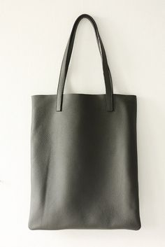 c9fb8de7710a4 ANYA Basic Grey Leather Tote Bag by MISHKAbags Basic Grey