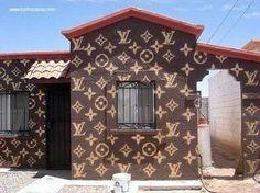 Fachada de casa pintada
