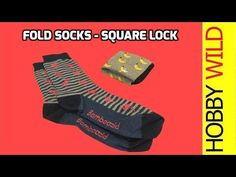 How To Fold Socks - Square Lock - YouTube