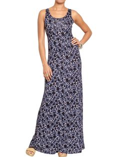 Old navy printed jersey maxi dress