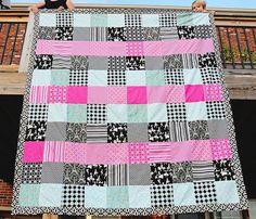 Queen Sized simple blocks quilt