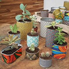 43 Ideas For Succulent Pots Diy Projects Tin Can Crafts, Diy And Crafts, Kids Crafts, Recycled Tin Cans, Recycled Crafts, Diy Cans, Deco Floral, Succulent Pots, Plant Pots