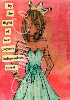 MissKDM Prima Doll ATC/ACEO with Inspirational Message OOAK
