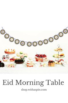 Oh, that Eid banner!! Love the Eid table setting and the Eid decor.