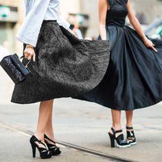 Transition between seasons effortlessly in the fashion forward midi skirt.