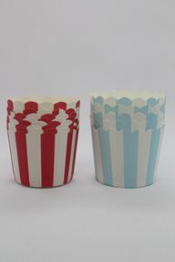 50 Red and Baby Blue Greaseproof Paper Baking Cups Cake Cups Cupcake Cups Ice Cream Cups Treat Dessert Portion Cups Muffin Paper Cups, $7.5
