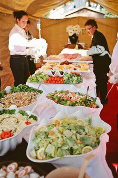 An Eco-Vintage Backyard Wedding: Shannon & Nick · Rock n Roll Bride wedding menu Wedding Reception Food, Wedding Dinner, Wedding Catering, Wedding Menu, Wedding Buffet Food, Wedding At Home, Unique Wedding Food, Pizza Wedding, Wedding Ideas