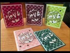 Stampin' Up! 2017-2019 In Color Birthday Cards - YouTube