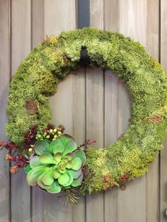 Moss Wreath w/Succulents
