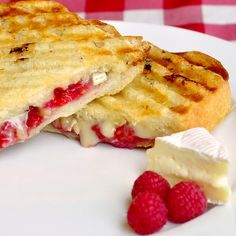 Raspberry Brie Panini - WhoaMyGod - an easy version! --- • Belgian or French bread • butter • brie • raspberries • honey • toasted chopped nuts (toasted almonds, pistachios, walnuts or cashews with different berry combinations) ---