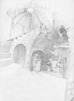 alan_lee_the lord of the rings_sketchbook_18_cirith ungol03_med.jpg (365×500)