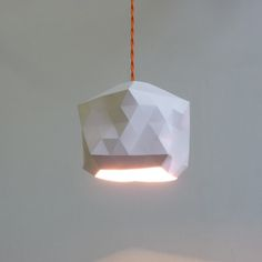 Image of Faceted Globe Pendant Light