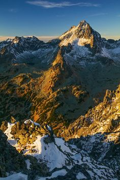 "Photograph Autumn Vysoká by Lubomir Majersky on 500px.The peak ""Vysoká"" is one of the most beautiful peaks in the High Tatras.  The High Tatras or High Tatra Mountains are a mountain range along the border of northern Slovakia in the Prešov Region, and southern Poland in the Lesser Poland Voivodeship. They are a range of the Tatra Mountains chain."