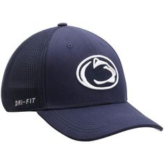 wholesale dealer 8802a 390bf Penn State Nittany Lions Nike Performance L91 Mesh Back Swoosh Flex Hat -  Navy