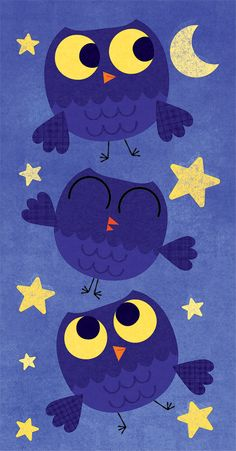 three owls. Maybe widen it and make a cute baby quilt.