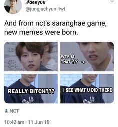 I love nct and I love memes so it's like love love