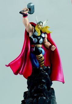 Thor Deluxe statue Sculpted by: Randy Bowen  Release Date: June 2001 Edition Size: 2000 Order Of Release: Phase I (statue #21)  Notes: Diamond Comics Exclusive           Features a change-o-head