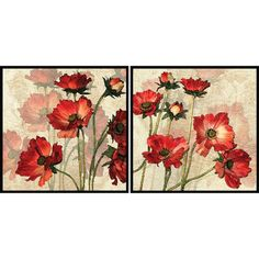 A lovely addition to your living room or master suite, this charming framed print showcases a delightful multicolor floral motif.    Prod...