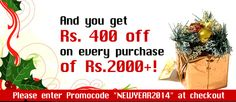 With free gift get an addition 400 off . Use coupon NEWYEAR2014 during checkout