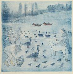'Regent's Park' by Richard Bawden (etching)