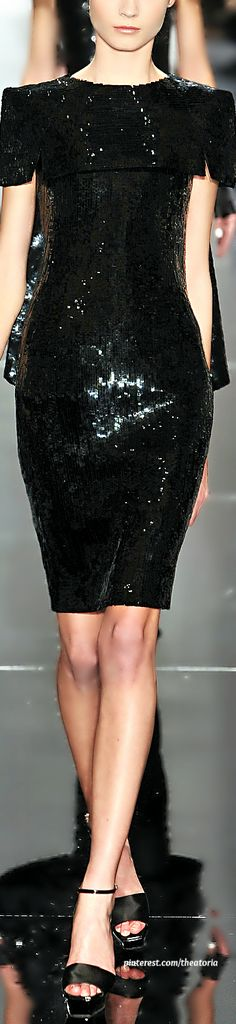 Chanel Haute Couture ~ Black Cocktail Dress