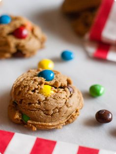 the puffiest, fluffiest peanut butter M&M cookies!
