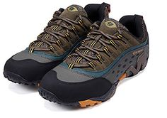 Fashiondiary Mens Outdoor Lace More Moutain Shoes Khaki 45 EU -- For more information, visit image link.