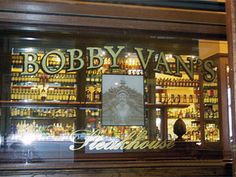 Gold Leaf sign  @Bobby Van's in New York, NY by Royce Signworks, Inc. www.roycesignworks.com