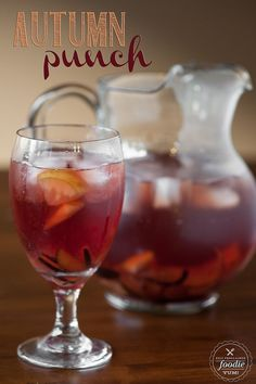 You can't go wrong with the Fall flavors of plum, pear, apple, cranberry, spices and wine in this delicious and easy to make Autumn Punch. {Self Proclaimed Foodie}