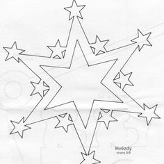 Stars: Free paper cut template.
