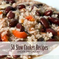 50 Slow Cooker Recipes Under 299 Calories--Weve provided you with the kind of low-calorie slow cooker meals that make mealtime quick, easy, and guilt-free.  #lowcalorie #slowcooker #crockpot