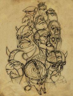 sketch-viking