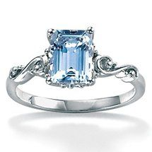 Walmart: Palm Beach Jewelry Octagon-Cut Aquamarine Ring