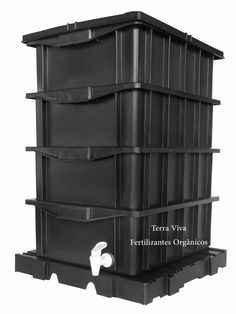 kit composteira doméstica/minhocário 15 litros 4 caixas